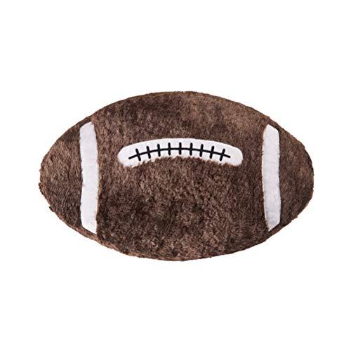 Amosfun Wurfkissen Rugby Ball Plüsch Kissen Neuheit gefüllt Geschenk für Home Bar Cafe dekorative Spielzeug (braun, Rugby - Winter)