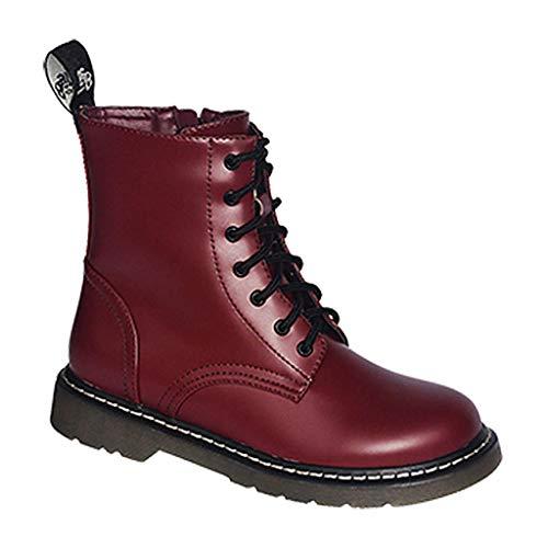 Commando Industries Knightsbridge 7 Loch Stiefel Dark Creationz Springertstiefel UK Gothic Boots 37-46 (44/10, Oxblood) (Industry Uk Halloween)