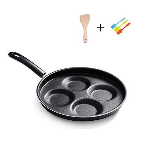 Pfannen Ei-Bratpfanne mit 4-Form-Design Antihaftbeschichtung für schwedischen Pfannkuchen, Plett, Krepp, Multi-Ei Induktion kompatibel