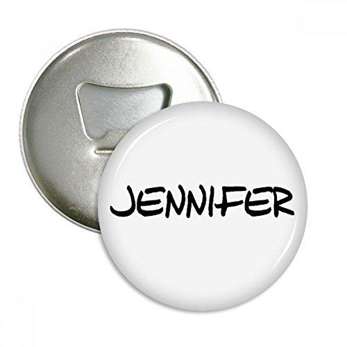 DIYthinker Spezielle Handschrift Englischer Name Jennifer Runde Flaschenöffner Kühlschrankmagnet-Abzeichen-Knopf-3pcs Geschenk Silber 7