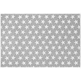 Creative Carpets Alfombra Estrellas, Algodón, Gris, 80 x 150 cm