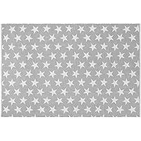 Creative Carpets Alfombra Estrellas, Algodón, Gris, 120x180