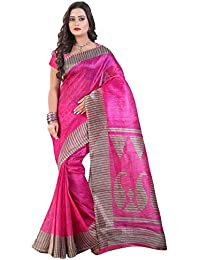 Glory Sarees Women's Cotton Silk Saree(saree-6_pink)