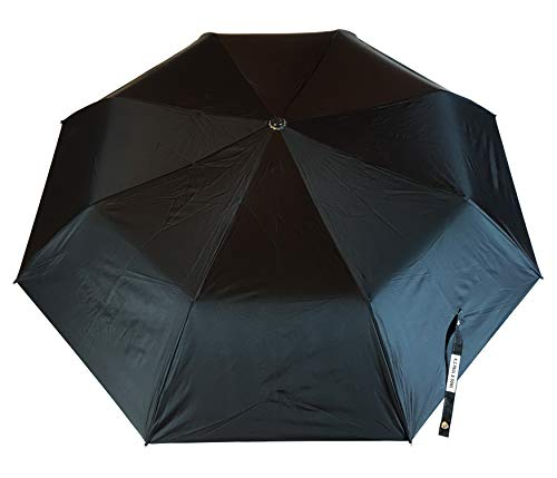 KC Paul & Sons 3 Fold Black Polyster Heavy Duty Umbrella with UV Protection - Newly Launched