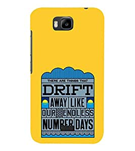 FUSON Drift Away Number Days 3D Hard Polycarbonate Designer Back Case Cover for Huawei Honor Bee :: Huawei Honor Bee Y5c