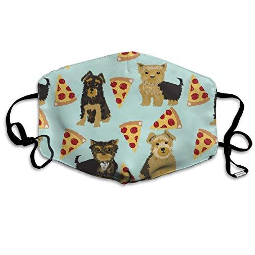 Yorkie Pizza, Yorkshire Terriers Pizza lustiger süßer Hund Neuheit Essen Druck für Yorkie Besitzer Beste Hunde für Home Dec Anti-Staub-Maske Anti-Verschmutzung waschbare wiederverwendbare Mundmasken (Sexy Pizza Kostüme)