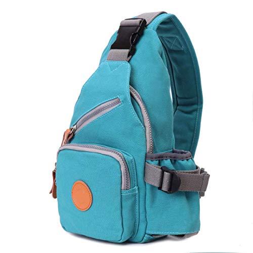 Baobei Outdoor-Reisen Sport Messenger Bag Frauen Casual Crossover Taschen Sling Tasche Radfahren Brust Taschen Wandern Reiserucksack Camping täglichen Gebrauch Kleine Tasche (Farbe : Blau) (Yoga-crossover)