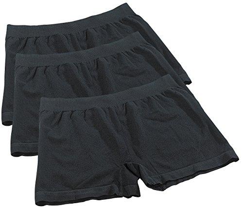 PEARL men Boxershorts aus Bambus-Viskose, 3 Stück, Gr. M, schwarz (Bambus-baumwoll-shorts)