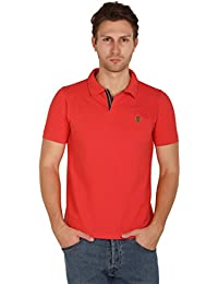 UNI COLORS POLO T-Shirts For Men's In Jhony Collar Pattern Half Sleeves Smart Fit For Ultimate Youth (Hearth)