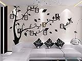 Asvert Wandtattoo Wandaufkleber Wanddeko Acryl Chic Design 3D Wand Sticker mit Bilderrahmen (1.5 * 2.07m S)