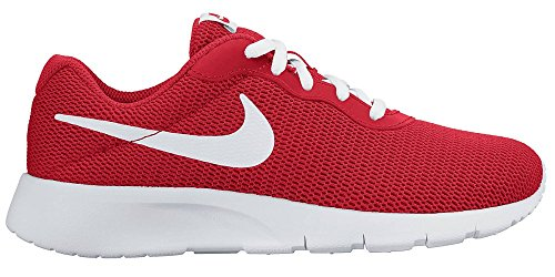 Nike Unisex-Kinder Tanjun (Gs) Boys Shoe Low-Top Rot (600 UNIVERSITY RED/WHITE)