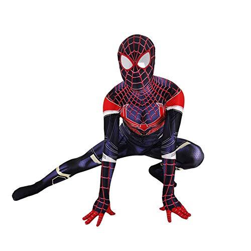 Real Kostüm Spiderman - CHXY Spiderman Kind Erwachsener Kostüm Superhelden Cosplay Verkleidung Dress,Halloween Mottoparty Strumpfhosen 3D Drucken Onesies Karneval Overall,Man-XXXL
