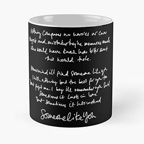 Someone Like You Handwritten Lyrics - A-d-e-l-e Classic Mug Best Gift 110z For Your Friends