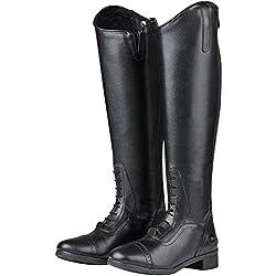Saxon - Botas de equitación para Mujer, Color Negro, Talla 40 EU Corto Regular
