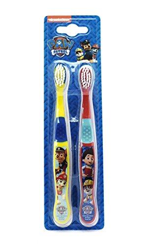 Preisvergleich Produktbild Paw Patrol Toothbrushes 3+ Jahre Gelb / Rot Nickelodeon - 2er-Pack