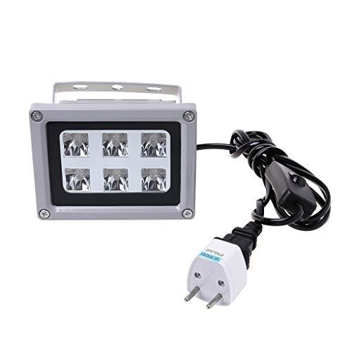 Fafalloagrron - Luz de curado de resina UV 405 nm lámpara LED fotosensible sólida 60 W accesorios de salida para impresora 3D SLA DLP US EU