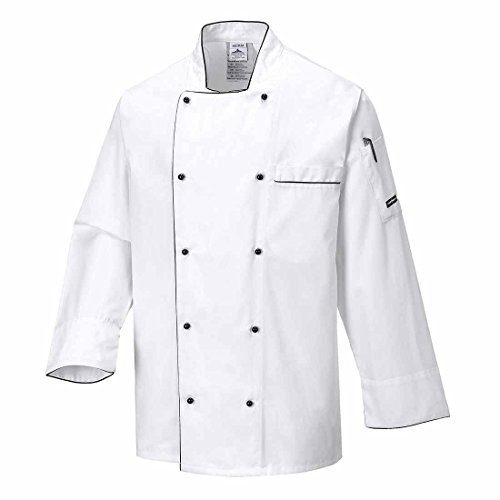 SUW–Executive Köche Küche Workwear Jacke, XXX-Large, weiß, 1 (Baumwolle 100% Koch-mantel)
