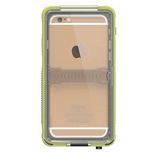 Wkae Case Cover Wasserdichtes staubdichte Shockproof unverformbarem Noctilucent Schutzhülle mit Halterung für iPhone 6 &6S ( Color : Yellow ) Yellow