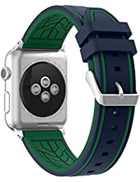 Fmway Repuesto de Correa Reloj de Silicona para Apple Watch Series 4 42mm, Apple Watch