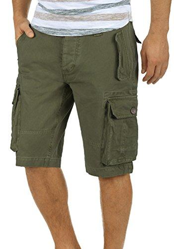 SOLID Pombal Cargo-Shorts kurze Hose mit Taschen aus 100% Baumwolle Ivy Green (3797)