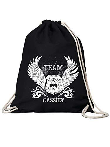 clothinx Turnbeutel Team Cassidy Schwarz