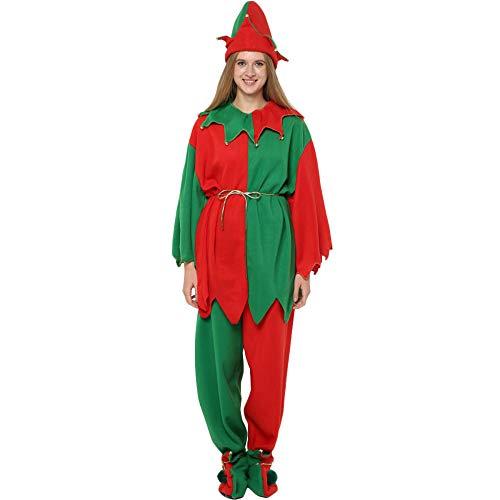 QQWE Frauen Weihnachten Elf Weibliche Kostümfest Cosplay Kostüm Weihnachten Mädchen Elf Kostüm,A-XL