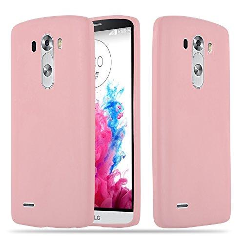 Cadorabo Hülle für LG G3 - Hülle in Candy ROSA – Handyhülle aus TPU Silikon im Candy Design - Silikonhülle Schutzhülle Ultra Slim Soft Back Cover Case Bumper