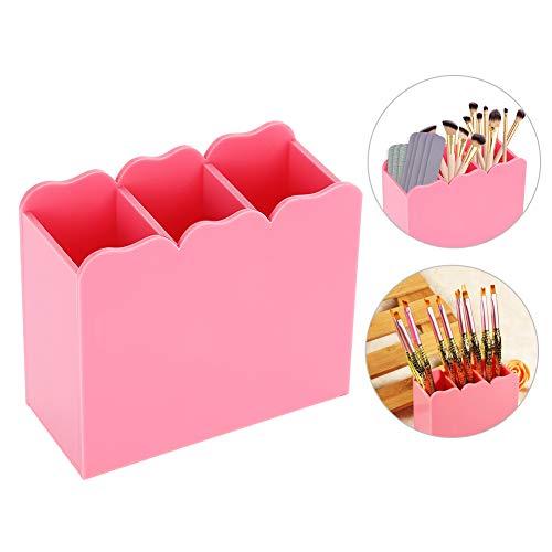 Espositore per pennelli per trucco Smalto per unghie acrilico 3 griglie Archiviazione per portaoggetti Strumenti per manicure