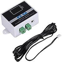 TMC-W2000 Conmutador de Termostato Digital Pre-cableado con Control de Temperatura con Sensor Impermeable, 2 Etapas de Calefacción y Refrigeración(AC110-220V Sonda de aire)