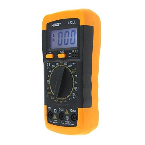 Multimeter Digital, Hunpta@ ANENE A830L Digital Voltmeter Amperemeter Ohmmeter Multimeter Volt AC DC Tester Meter (Schwarz) Ac-transistor