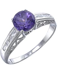 Sterling Silver Amethyst Ring (1.20 CT)
