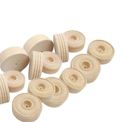 zräder Holz Zug Räder Spielzeug Zubehör für Fahrzeug DIY Modellbau ()