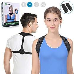 SKEY Haltungskorrektur, Geradehalter Schulter Rückenstütze, ideal zur Therapie für haltungsbedingte Nacken, Rücken und Schulterschmerzen für Damen und Herren