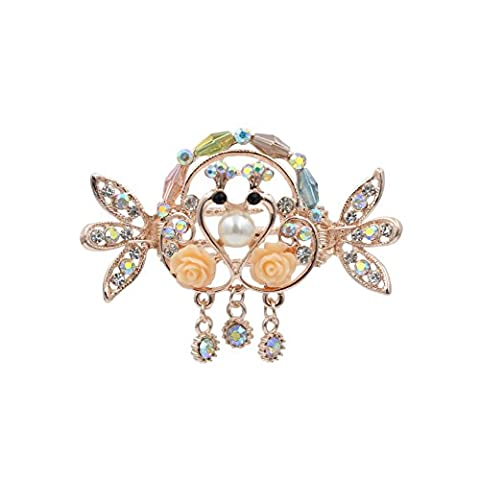 Totoroforet Kissing Swans True Love/Loving Swans Hair Clip/Hair Clip/Claw With Pendant --- Small Size (Multicoloured)