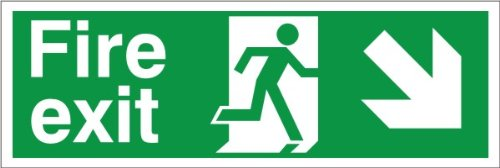 Uk Fire Exit Down Signs The Best Amazon Price In Savemoneyes