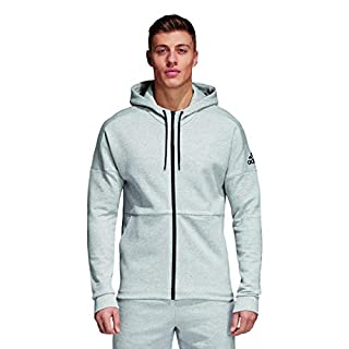 adidas Herren Kapuzen-Jacke ID Full Zip, Stadium Heather/Medium Grey Heather, M, CG2088