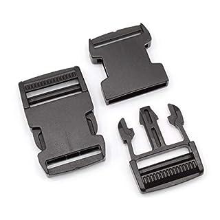 Steckschnalle 30mm Schwarz gerade POM Acetal [10 Stück] HEAVYTOOL Steckverschluss Klippverschluss Klickverschluss
