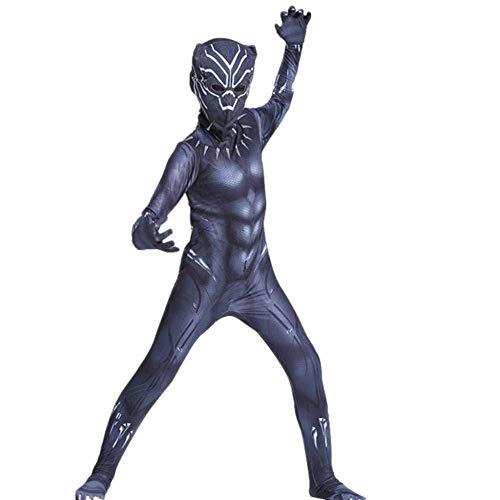 JUFENG Avengers Cosplay Kostüm Halloween Kostüme Party Kostüme Kind Anime Movie Toys,Black-120