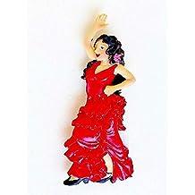 CHAR LOT 2 Magnet Collection Danseuse flamenca Robe Sevillana Rouge Flamenco  Espagnol andalouse 8 80a43a68bc3