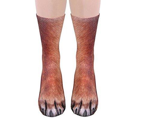 f158189cc2 FORLADY Stampa 3D Animal Foot Zoccolo Calze Adult Claw Digital Calze Socks  Unisex Adulto Anima Novità