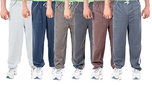 Funky Guys Men's Cotton Track Pant (Pack of 6) (TRACKPANT_C6_NBGRGYDGLGBR_42_Multi_Large)