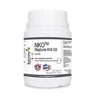   NKO Neptune Krill Oil }   (Krill-Öl)   500mg 300 Kapseln KENAY EUROPE