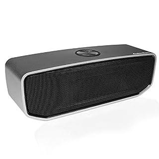 AudioAffairs BT 010 Bluetooth Lautsprecher - Portable Bluetooth Box Mit Robustem Alu-Gehäuse Und Integriertem Akku - Bass-Reflex-System Für Satte Bässe Und Hervorragende Soundqualität - Silber