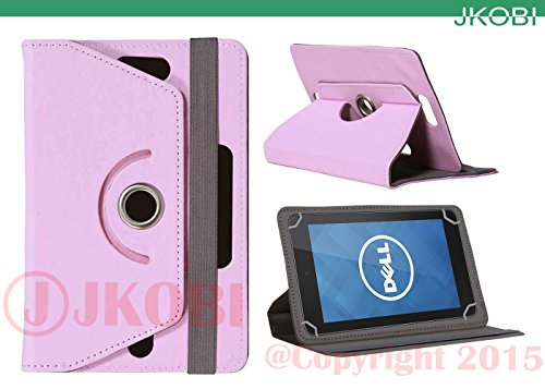 Jkobi 360° Rotating Front Back Tablet Book Flip Flap Case Cover Compatible For Dell Venue 7 3000 -Babypink  available at amazon for Rs.290