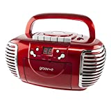 Best Cd Player For Kids - Groov-e Retro Boombox CD Player with Cassette, AM Review