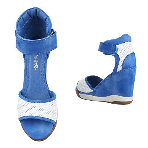 Ital-Design, Sandali donna Blu/Bianco