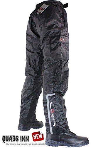 Wasserdichte Motorradhose mit Isolierten Schicht Überhose Überhosen - Kostenloser Versand - Schwarz - langes Bein - 3XL - Taille 50