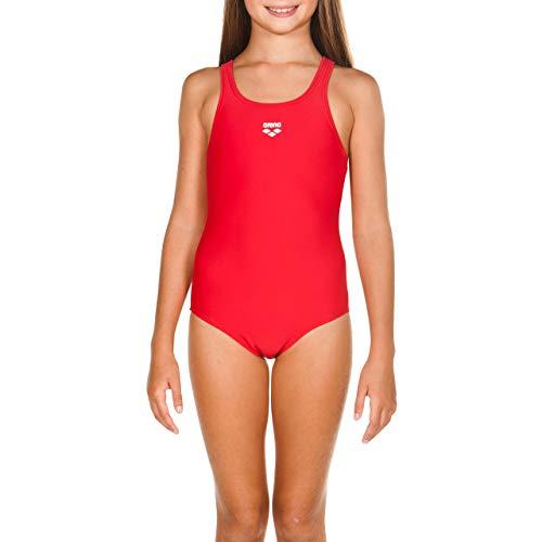 arena Mädchen Sport Badeanzug Dynamo (Schnelltrocknend, UV-Schutz UPF 50+, Chlor- /Salzwasserbeständig), rot (Red), 164 -