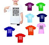 Girls Boys NSPCC Number Day National Maths Day Dress Up School T-Shirts Top