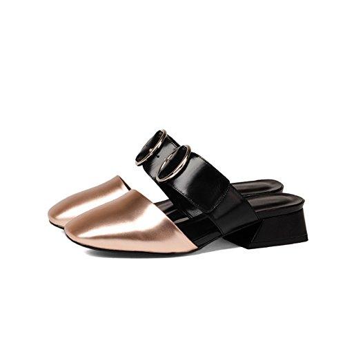 Sandali da moda estivi/Donne con le pantofole mezze in spessa e baotou I